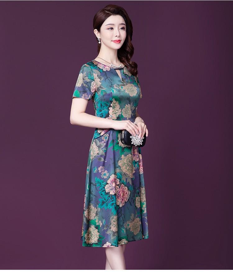 Đầm Quý Bà Họa tiết Hoa Sang Trọng - Hàng nhập HATI - DQB846 4
