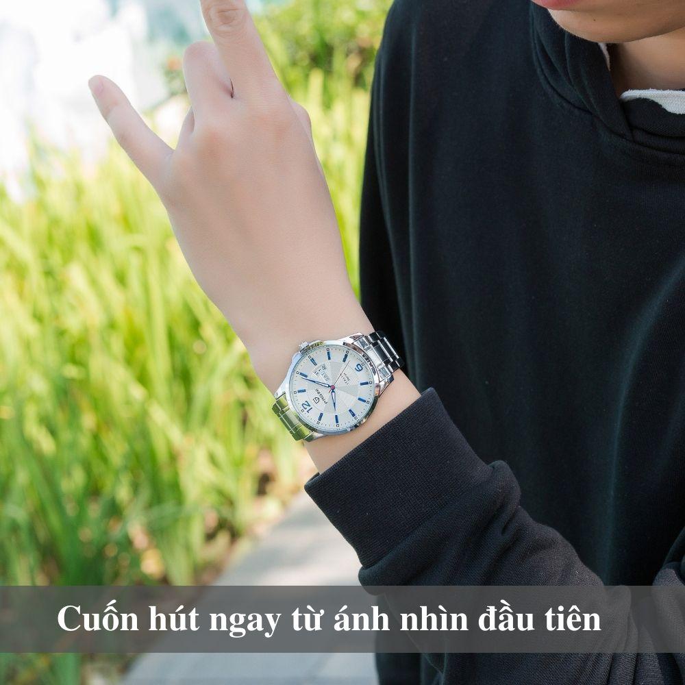 Đồng hồ nam PAGINI PA5533W dây thép không gỉ - Lịch ngày cao cấp 5