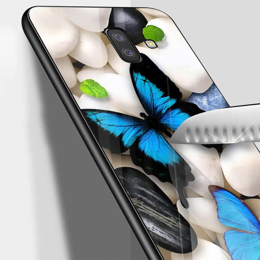 Ốp kính cường lực cho điện thoại Samsung Galaxy J4 - J6 - J6 PLUS - J6 PRIME - J8 - bướm đẹp MS ANH024