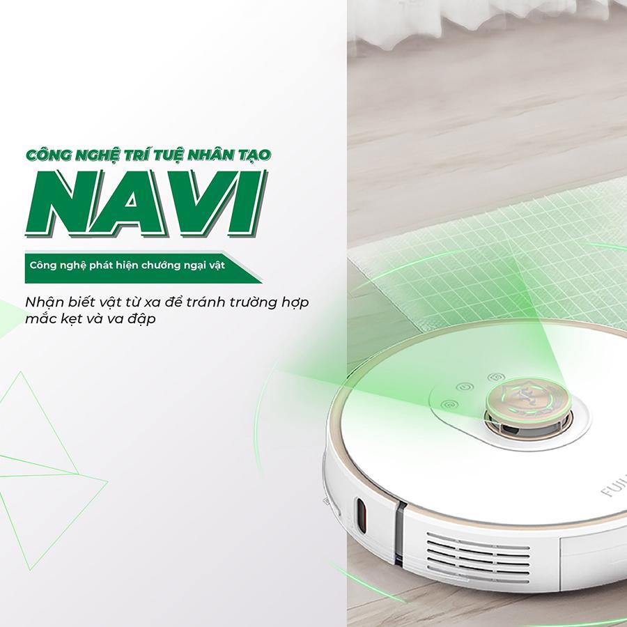 Công nghệ trí tuệ nhân tạo NAVI nhật biết các vật cản từ xa được tích hợp trong robot hút bụi lau nhà T12 Max