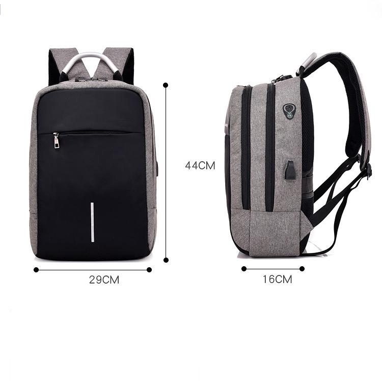 Balo laptop nam nữ thời trang công nghệ có cổng USB, phản quang và mã khóa 7