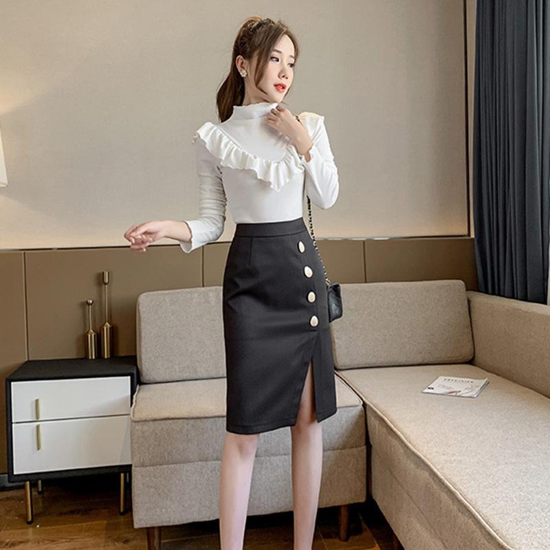 Chân váy ôm công sở Louro L900, mẫu chân váy công sở với hàng cúc dọc xẻ đùi, dáng ôm body khoe trọn đường nét, kết hợp với áo sơ mi, áo phông đều đẹp, vải thoáng mát, lên dáng tốt 11
