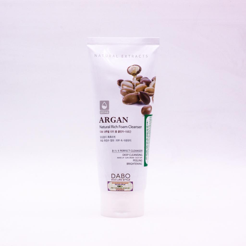 Sữa rửa mặt Dabo Argan
