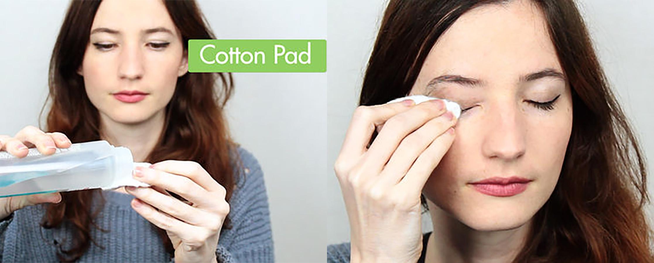 Bông trang điểm ( bông tẩy trang) Nhật Bản bằng bông tự nhiên không tẩy trắng hảo hạng Báo Hồng Miniso Pink Panther Bleach Free Cotton Pad ( gói 200 miếng) không xơ bông bám trên da MNS068 5