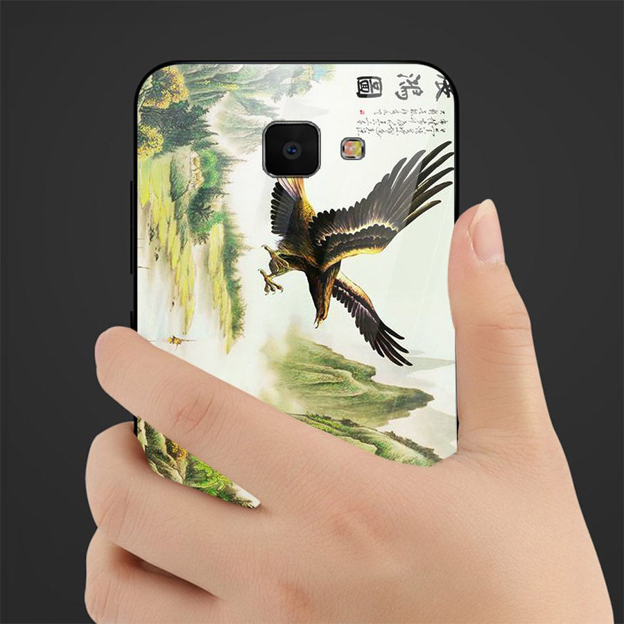 Ốp kính cường lực cho điện thoại Samsung Galaxy A7 2018/A750 - A10/M10 - A50 - A70 - chim ưng MS CHIM 001