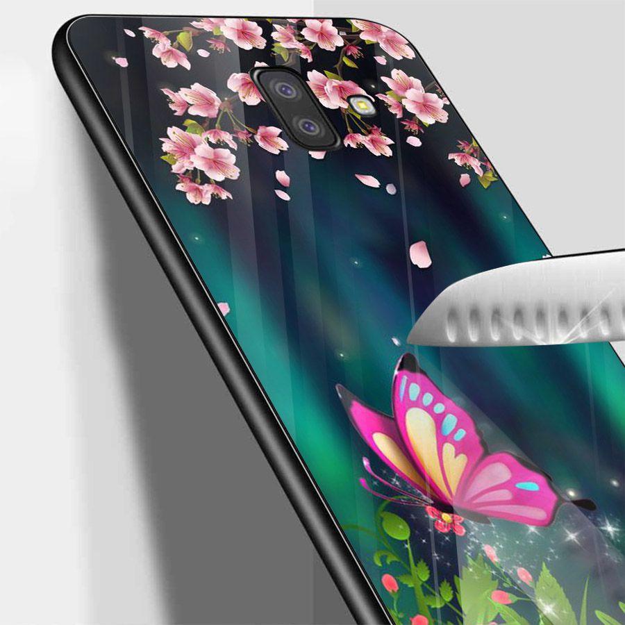 Ốp kính cường lực cho điện thoại Samsung Galaxy J4 - J6 - J6 PLUS - J6 PRIME - J8 - bướm đẹp MS ANH074