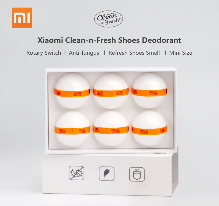 Xiaomi Mijia Clean n Fresh Shoes Deodorant Dry Deodorizer Air Purifying Shoes Eliminator Shoes Closet Drawer Family Air