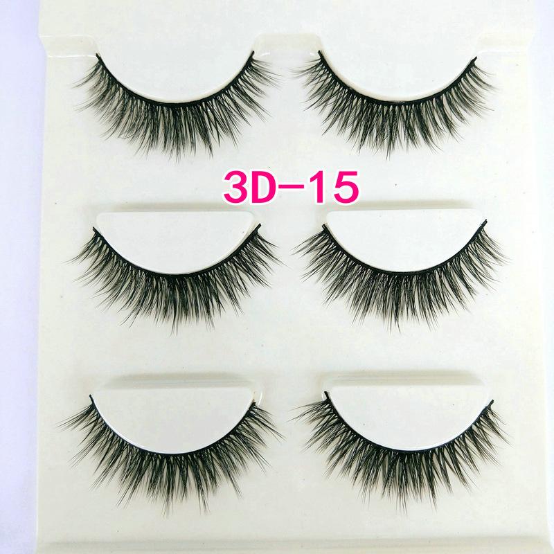 Lông mi giả lông chồn 3 Fashion Eyelashes 3 Faux-Cils 3D 1 bộ 3 cặp 58