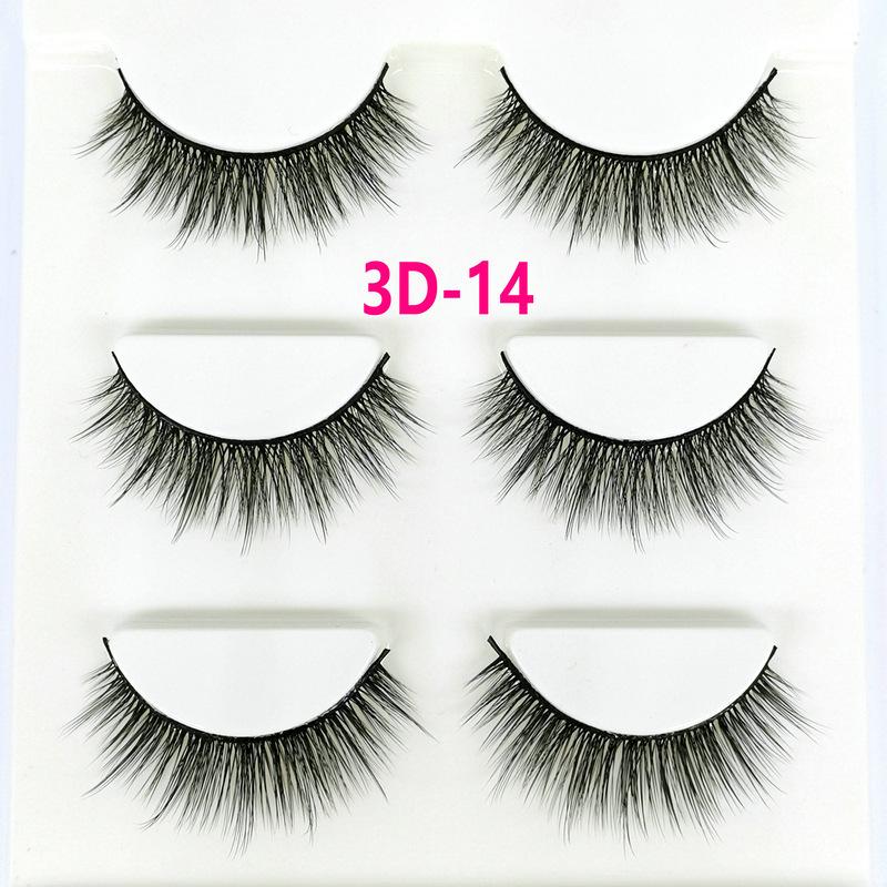Lông mi giả lông chồn 3 Fashion Eyelashes 3 Faux-Cils 3D 1 bộ 3 cặp 54