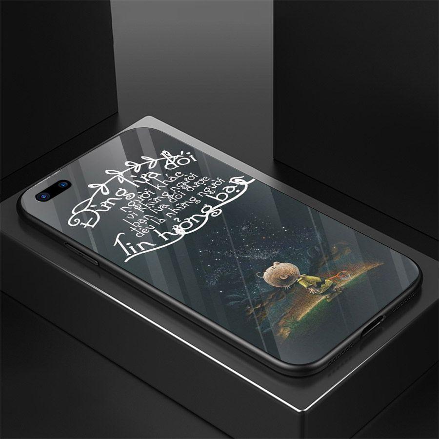 Ốp kính cường lực dành cho điện thoại Oppo A3S/A5/realme C1 - lời trích - tâm trạng - tam098