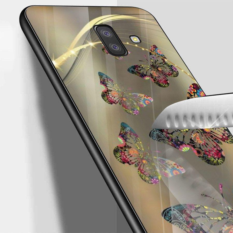 Ốp kính cường lực cho điện thoại Samsung Galaxy J6 PLUS - bướm đẹp MS BUOMD043
