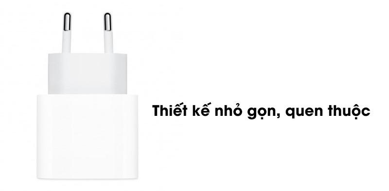 Thiết kế Sạc nhanh Apple iPhone 20W Type-C PD MHJE3ZA