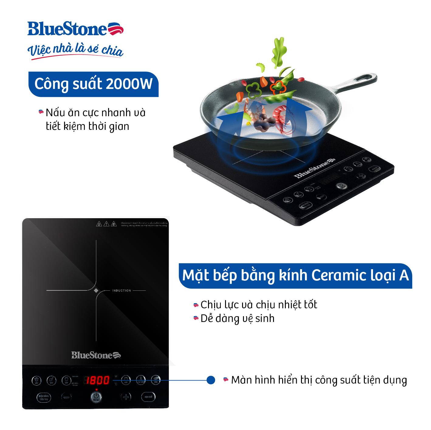 Bếp Từ Đơn BlueStone ICB-6610 - Hàng Chính Hãng