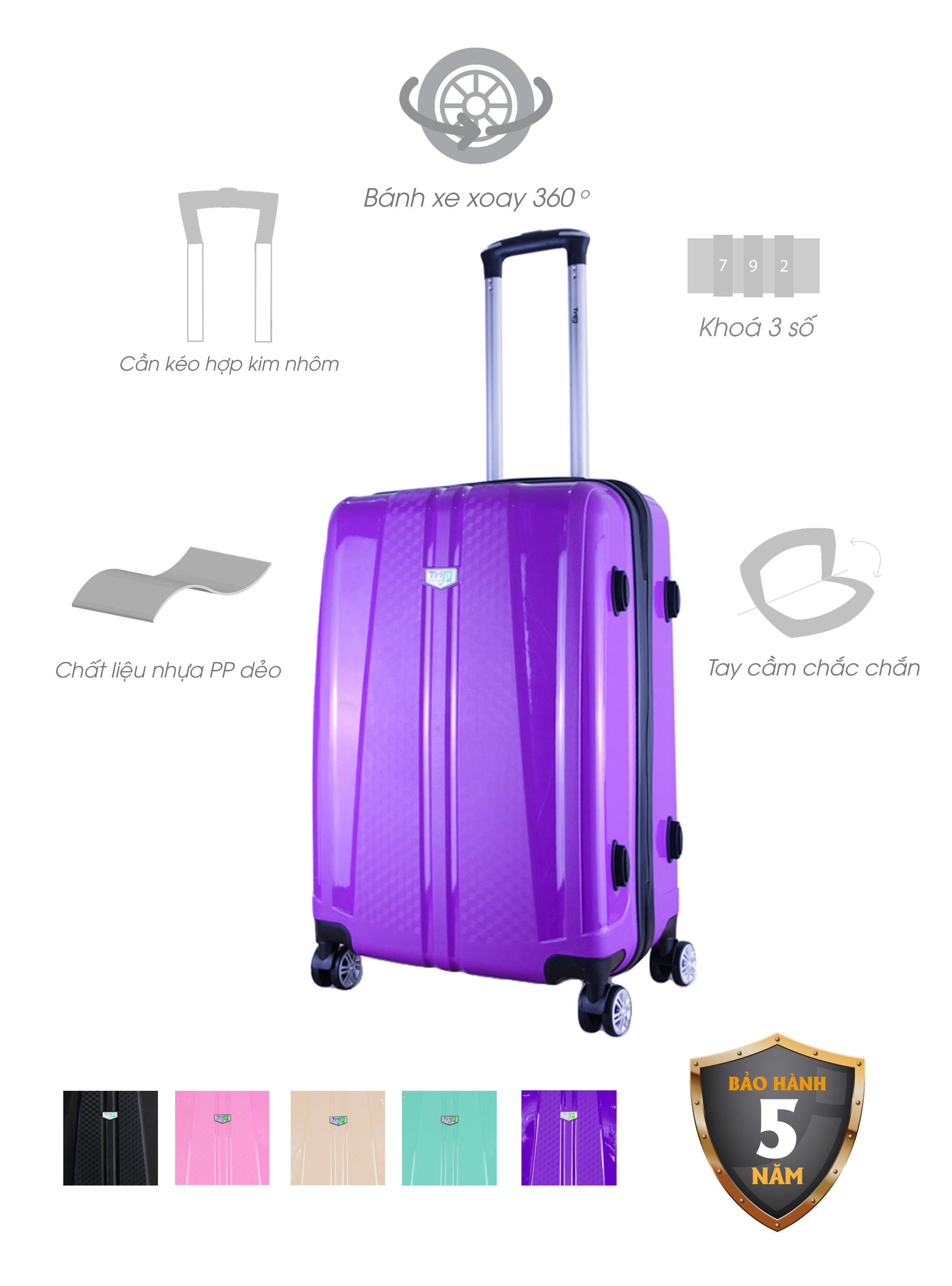 Vali Nhựa Dẻo TRIP PP103 - Đen