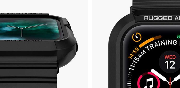 Apple Watch Series 4 (44mm) Case Rugged Armor Pro - Hàng Chính Hãng (062CS25324-Black)