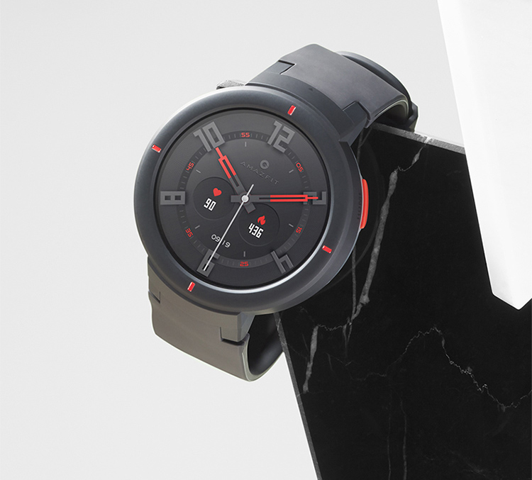 AMAZFIT smart watch Huami Technology produced AMOLED colorful display small love smart voice smart home control NFC 5 days life moonlight white