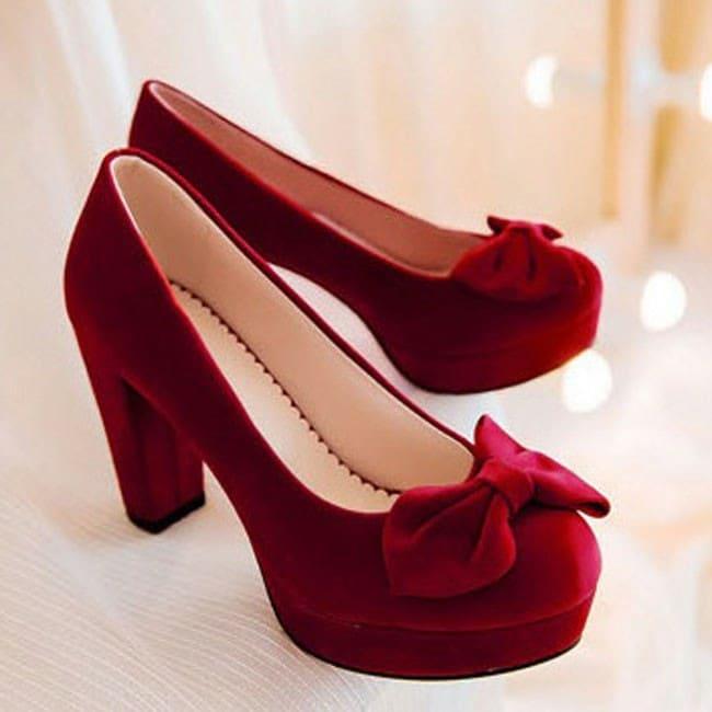 Giày cao gót 10cm mũi phối nơ cách điệu cao cấp 1