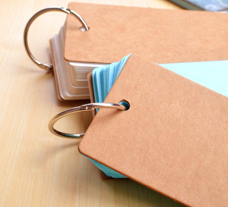 Bộ Thẻ Flashcard 80 Tờ Ghi Nhớ Học Từ Vựng Ngoại Ngữ - Màu Cam