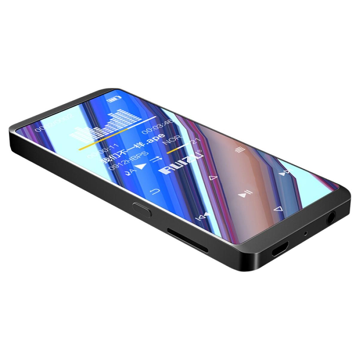 RUIZU D02 8G Black Belt Bluetooth External Touch Mini Student MP3/MP4 Lossless Music Player