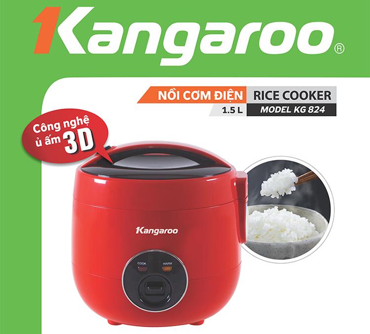 Nồi Cơm Điện 1,5L Kangaroo KG824