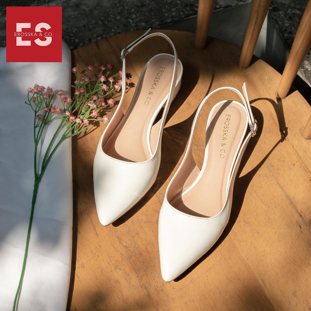 Giày cao gót slingback Erosska mũi nhọn da bóng kiểu dáng basic cao 4cm - EL012 2