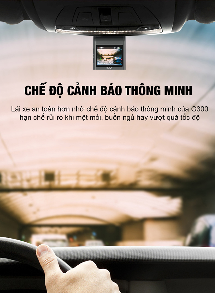 Camera Hành Trình Qihoo 360 Dash Cam G300 Full Hd