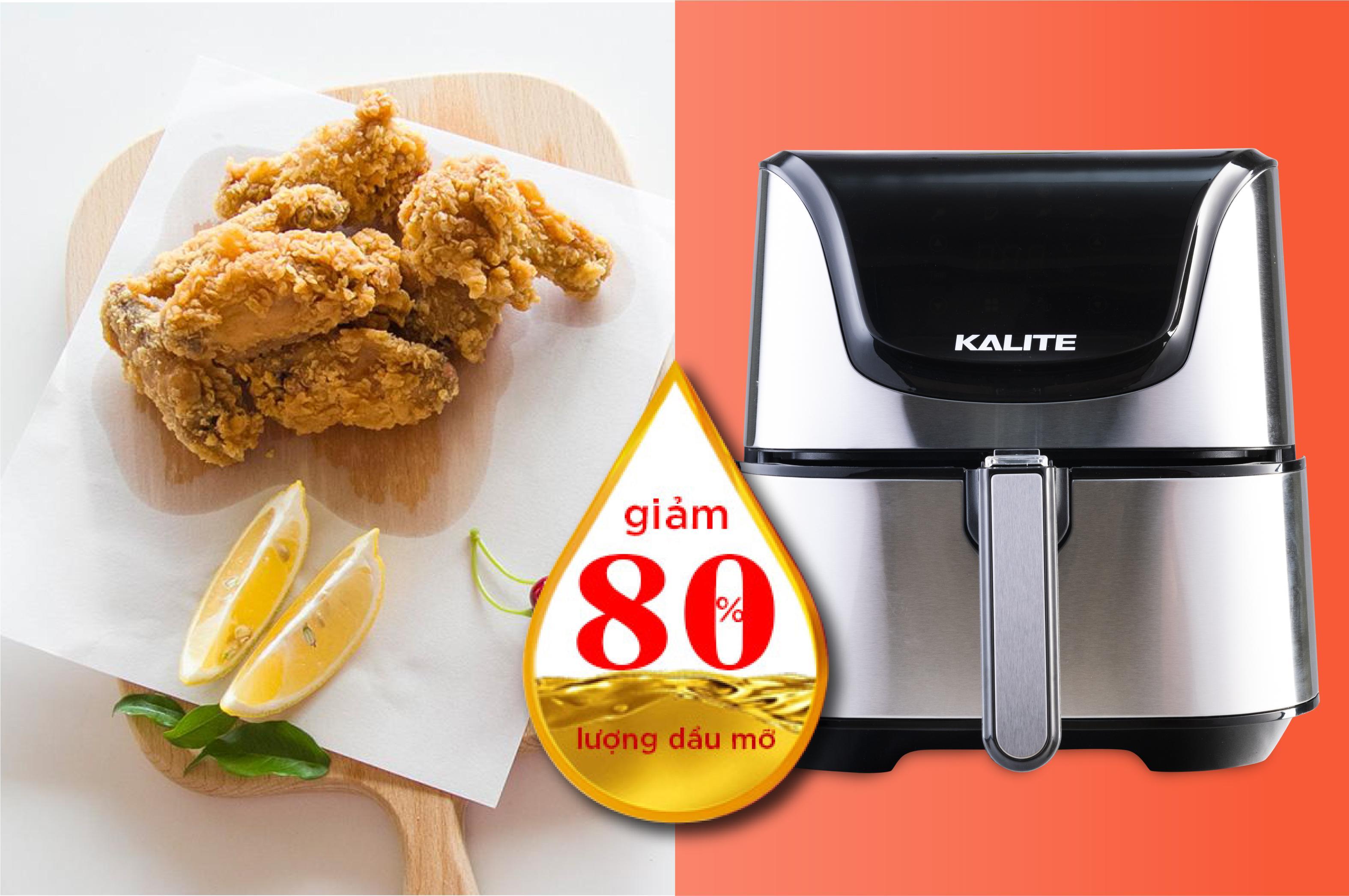 Nồi chiên không dầu Kalite Q6 tách béo thông minh