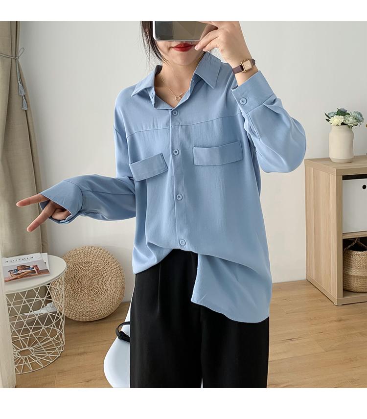 Sơ mi nữ form rộng tay dài ArcticHunter, phong cách trẻ, thương hiệu chính hãng 16