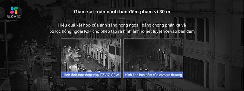 Camera IP Wifi EZVIZ C3W 720P có đèn còi - đàm thoại 2 chiều - hàng nhập khẩu 8