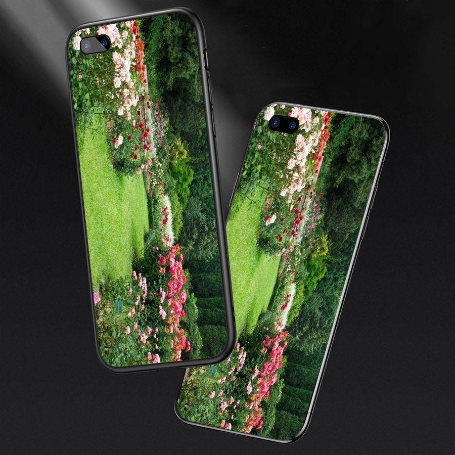 Ốp lưng cứng viền dẻo dành cho điện thoại Oppo A5/A3s - R11 - Vườn Hoa MS VHOA033