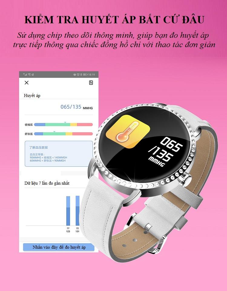 Đồng hồ theo dõi sức khỏe H7 (chống nước IP67) 5