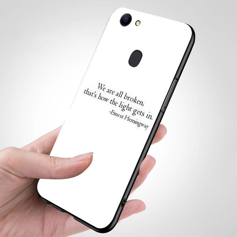 Ốp kính cường lực dành cho điện thoại Oppo F5/R11S/A73 - F7 - lời trích truyền cảm hứng - quotes - cam2090