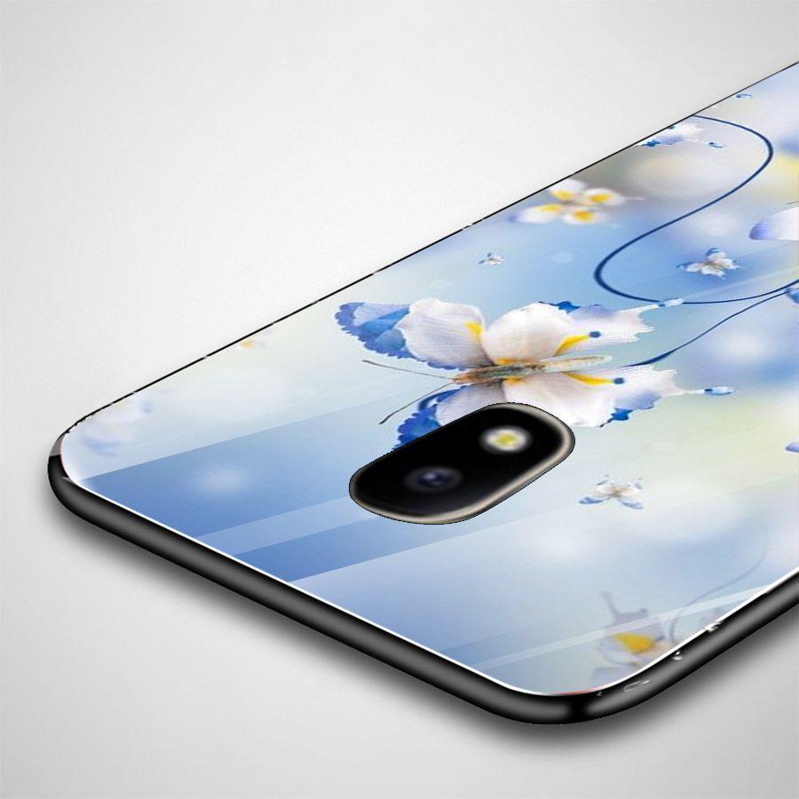 Ốp kính cường lực cho điện thoại Samsung Galaxy J3 2016/J310/J3 LTE - bướm đẹp MS BUOMD025