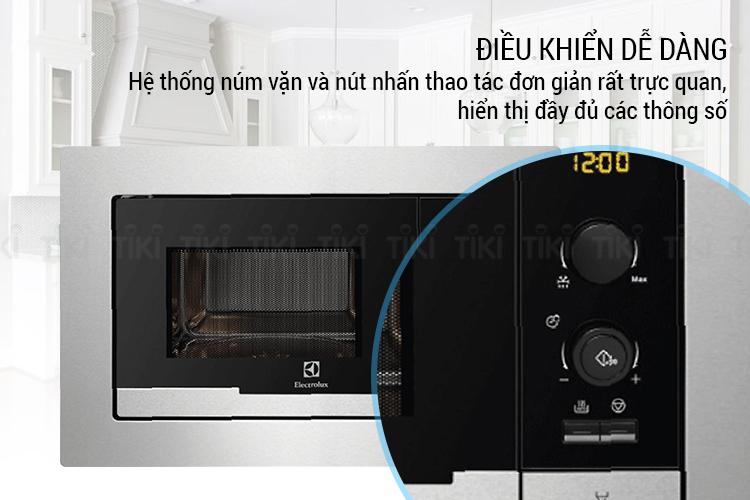 Lò Vi Sóng Âm Tủ Electrolux EMS2085X (20L)