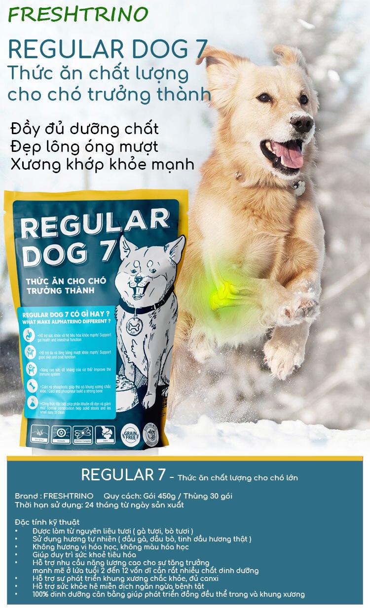 Thức ăn cho chó lớn có sợi gà tươi Regular Dog 7 1