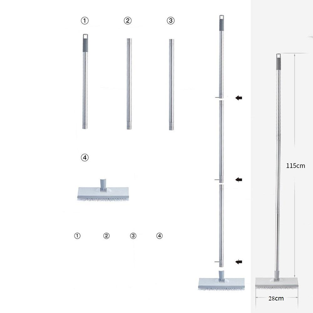 Chổi Chà Sàn Thông Minh 2 Mặt Dài 115cm tặng kèm móc treo chổi | Tiki
