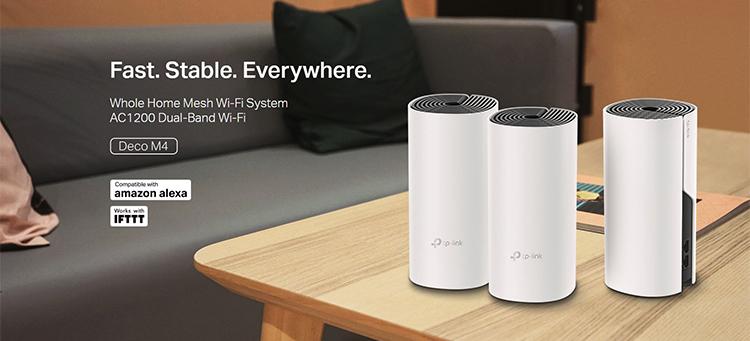 Bộ Phát Wifi Mesh TP-Link Deco M4 AC1200 MU-MIMO (3-pack) - Hàng Chính Hãng