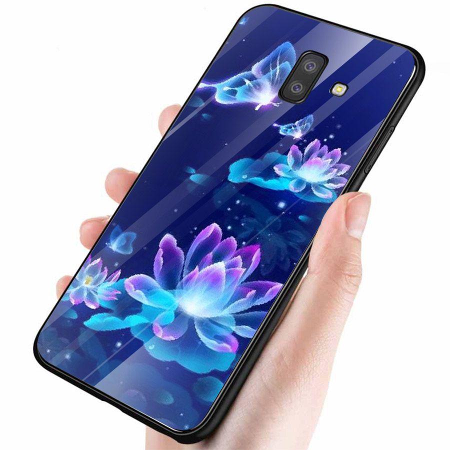 Ốp kính cường lực cho điện thoại Samsung Galaxy J4 - J6 - J6 PLUS - J6 PRIME - J8 - bướm đẹp MS ANH052
