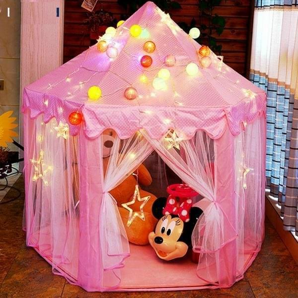 Lều công chúa cho bé yêu tặng kèm đèn nháy sao 3 mét trang trí 3