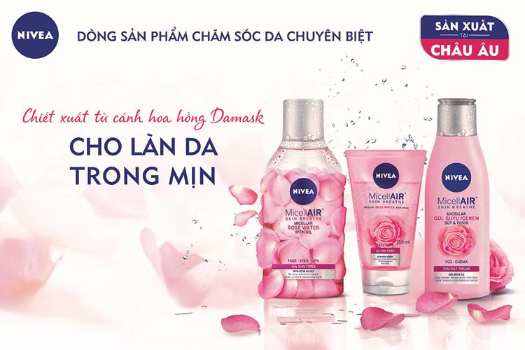 Sữa dưỡng ẩm chiết xuất hoa hồng Nivea MicellAIR Skin Breathe 82369