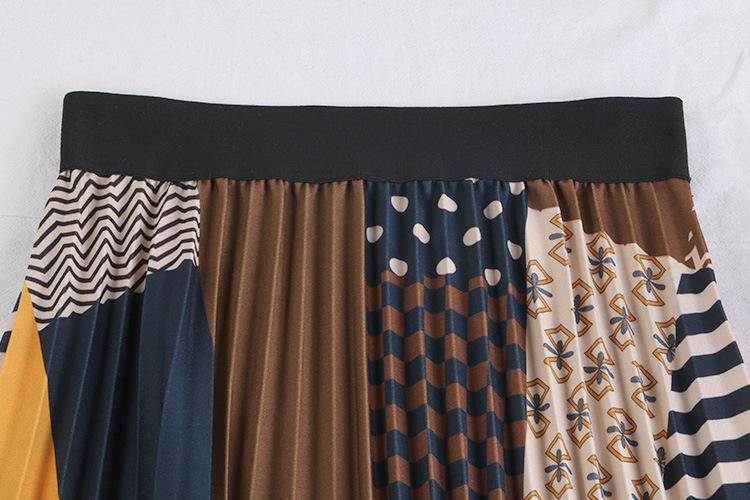 Chân váy xếp ly Vintage dáng dài chất không nhăn VAY35 phối nhiều màu (Free size) 14