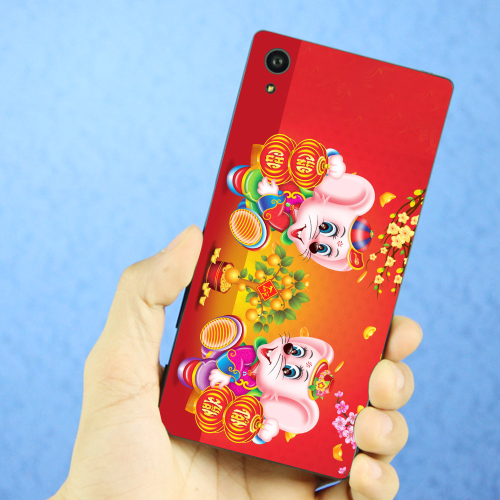 Ốp lưng cứng viền dẻo dành cho điện thoại Sony Xperia XA1 Plus - Chuột chúc tết mã 06 MS CCTM06