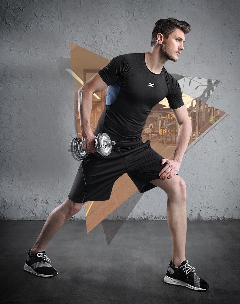 Bộ Quần Áo Thể Thao Nam Chất Thun Co Giãn, Đồ Tập Gym, Yoga Nam mã QA.NJDK 19