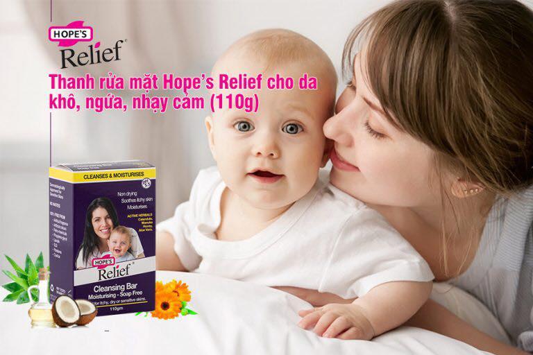 Thanh rửa mặt Hope's Relief cho da khô ngứa, eczema, viêm da, vảy nến