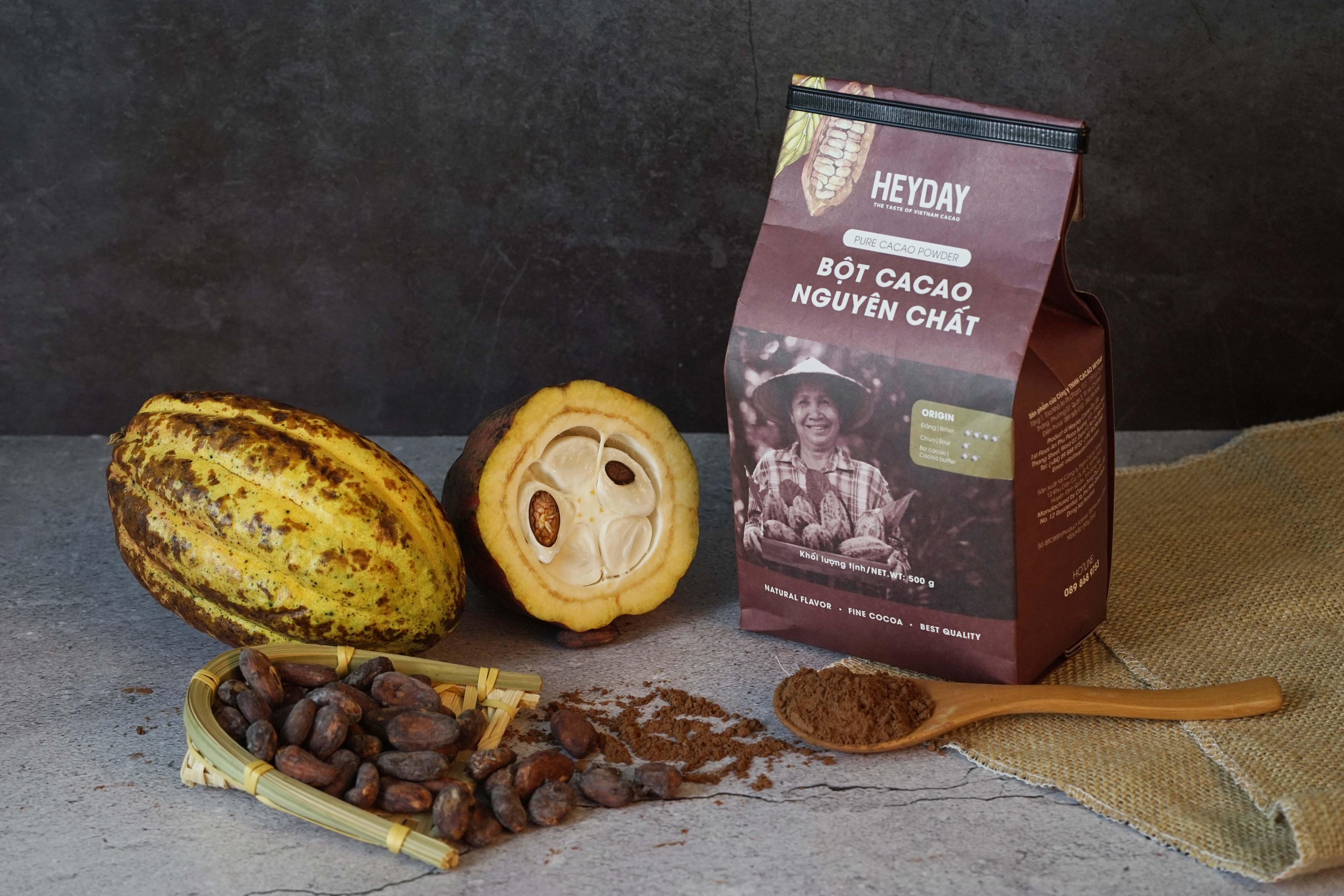 Bột cacao nguyên chất 100% - Heyday Cacao