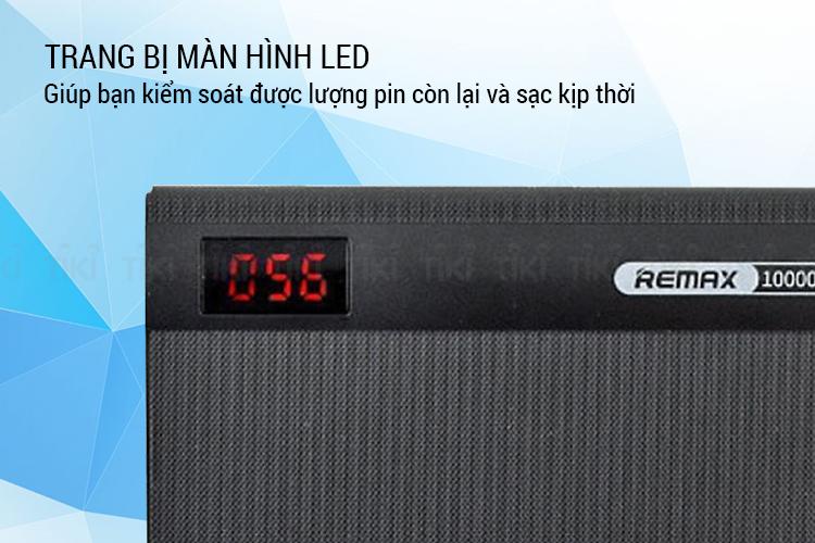Pin sạc dự phòng 10000mAh Remax RPP-53 Đen - Hàng chính hãng