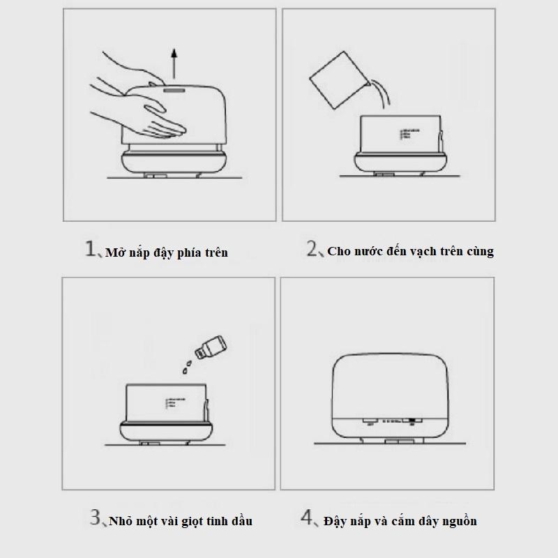 cách dùng máy xông tinh dầu