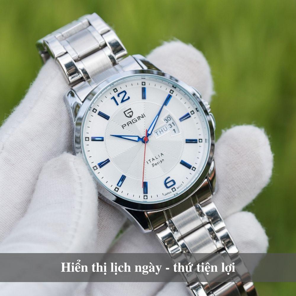 Đồng hồ nam PAGINI PA5533W dây thép không gỉ - Lịch ngày cao cấp 7