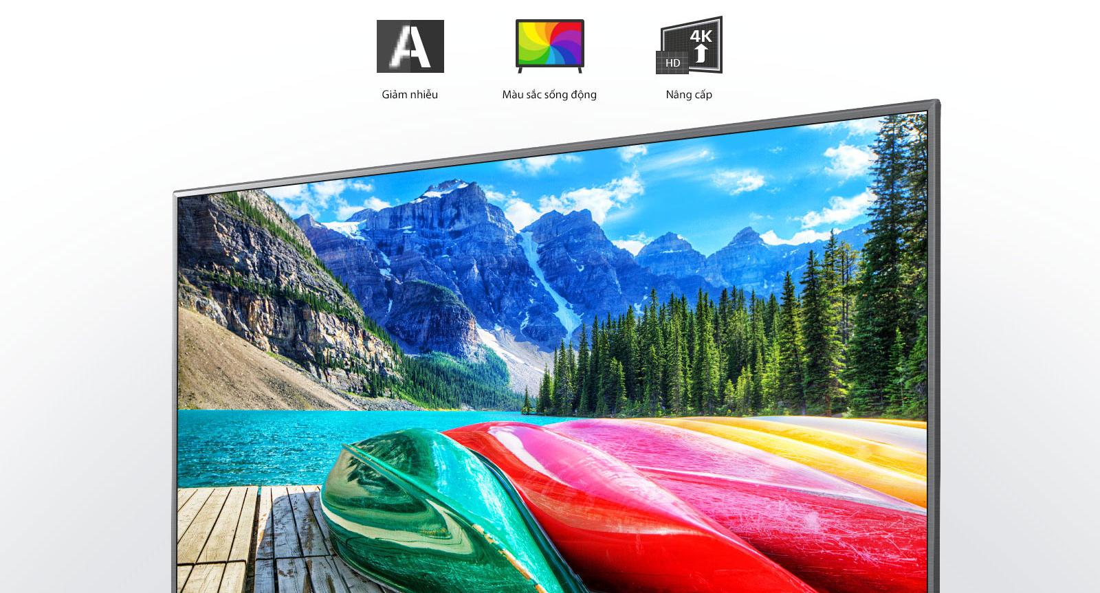 Bộ xử lý lõi tứ 4K - Nâng cao chất lượng hình mọi nội dung bạn xem