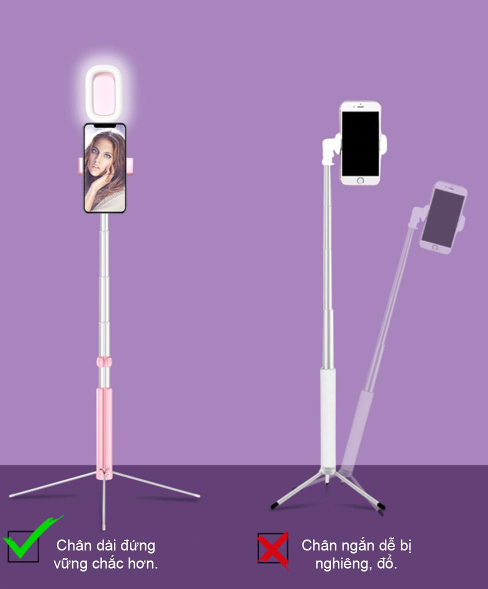Gậy Selfie CA17D Có Ánh Sáng LED Loại Dài